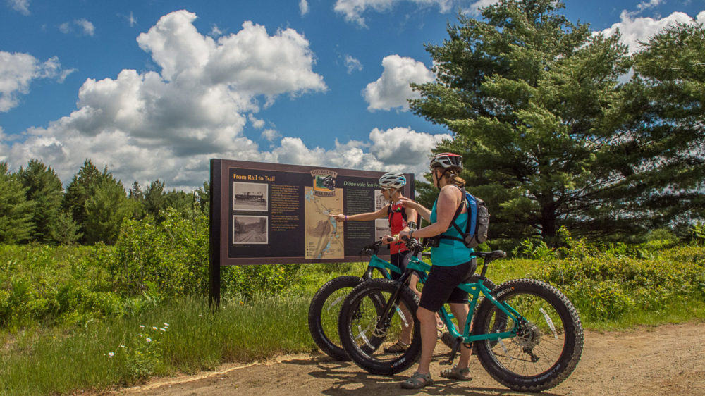 Bike the Old Railway Trail with Algonquin Outfitters