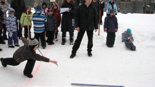 Snow-snakes at  Port Carling WinterFest