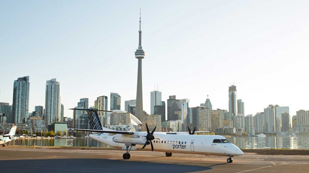 Porter Airlines flying into Muskoka Summer 2019